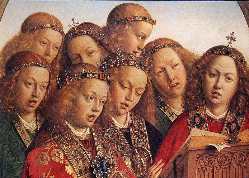Ghent Altarpiece Singing_Angels