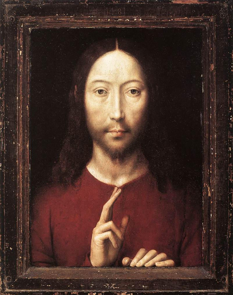 Christ giving his blessing Hans Memling, 1481 Photo: Wikimedia Commons