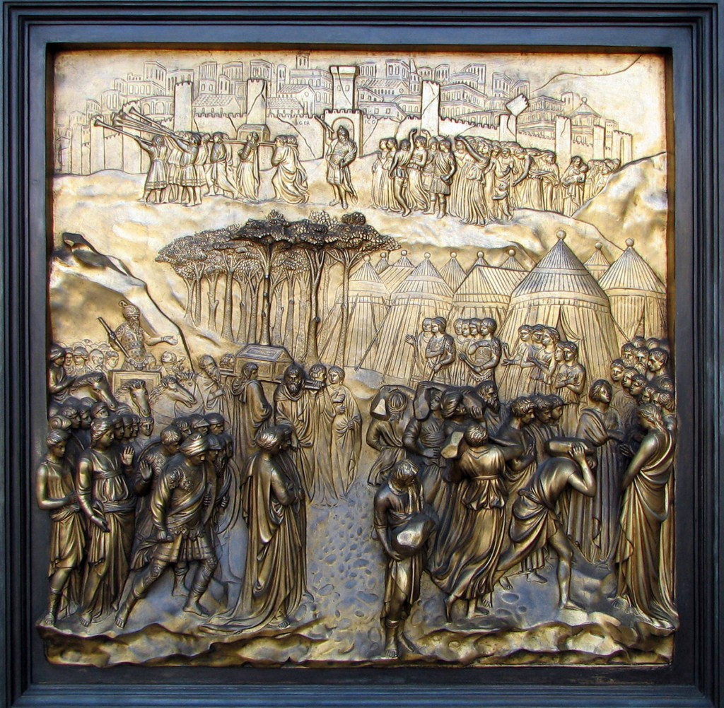 Jericho panel from the Ghiberti doors Grace Cathedral, San Francisco Photo: Bernard Gagnon  Wikimedia Commons