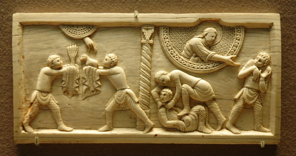 Cain and Abel, Ivory, c.1084 Louvre OA 4052 Photo: Wikimedia Commons