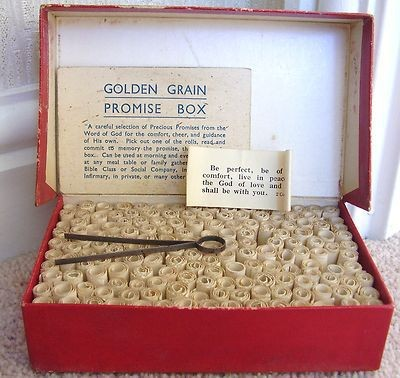 Golden Grain Promise Box with tongs