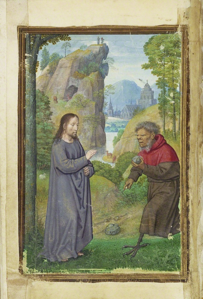 Simon Bening The Temptation of Christ, 1525-1530