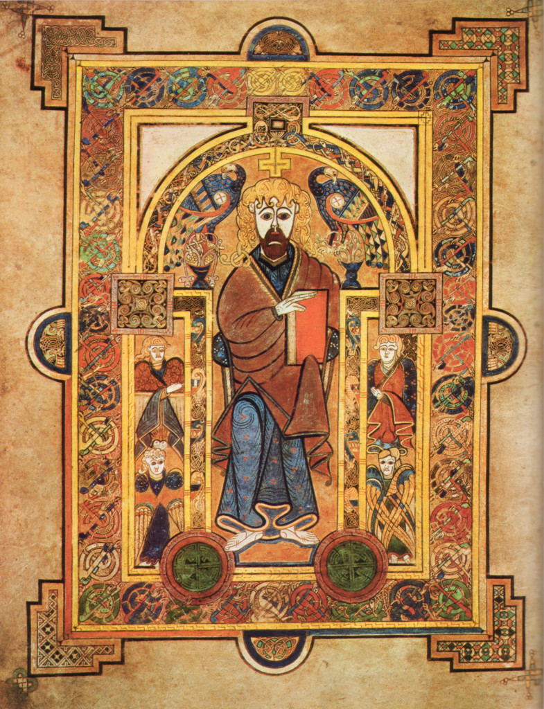 Christ Enthroned Book of Kells Trinity College Dublin