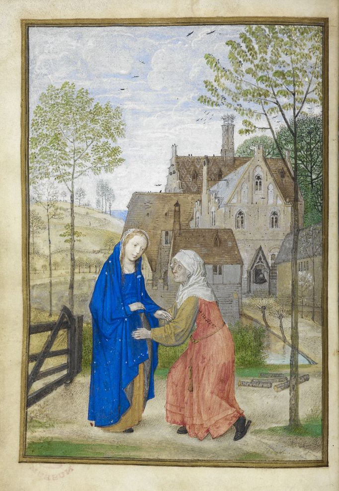 Visitation, Huth Hours Add MS 38126, f.66v British Library