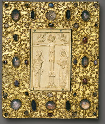 Book Cover with Byzantine Icon of the Crucifixion Metropolitan Museum of Art Accession Number: 17.190.134